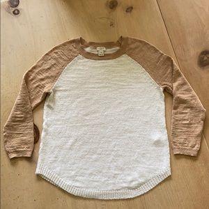 JCrew linen sweater xs